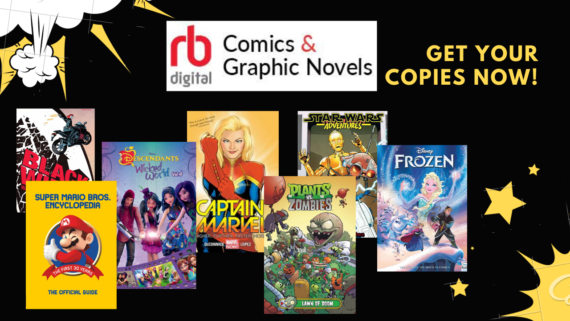 Use your library card to access comics and graphic novels on any computer, tablet or smartphone!