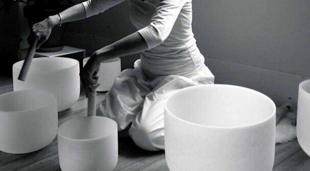 Crystal Singing Bowl Meditation with The School of Royal Yoga via Zoom
