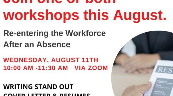 Workshop: Re-entering the Workforce After an Absence