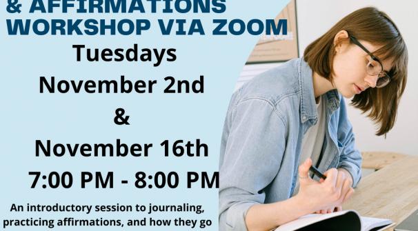 Journaling & Affirmations Workshop via Zoom